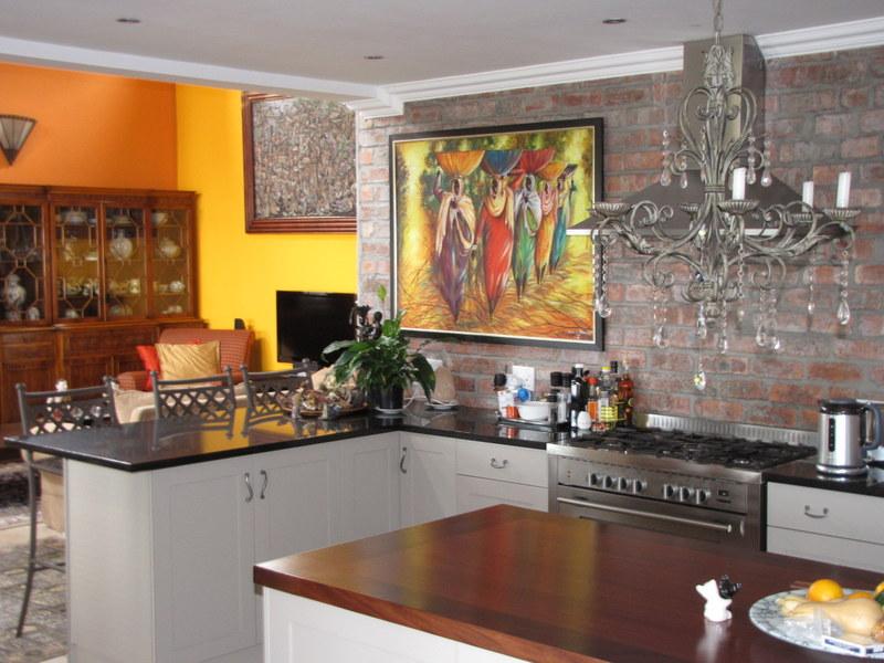 beautiful, flowing kitchen