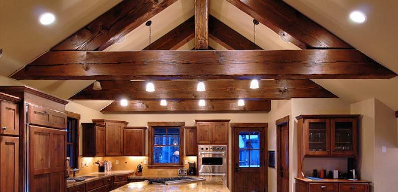 stunning exposed beams