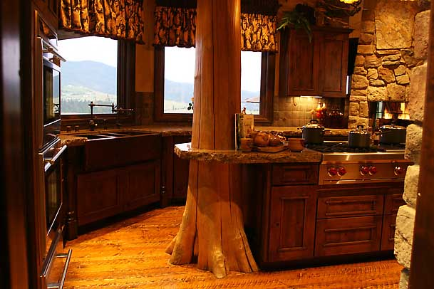 very rustic with lots of natural light