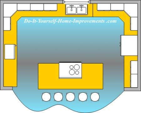 large U-shaped kitchen