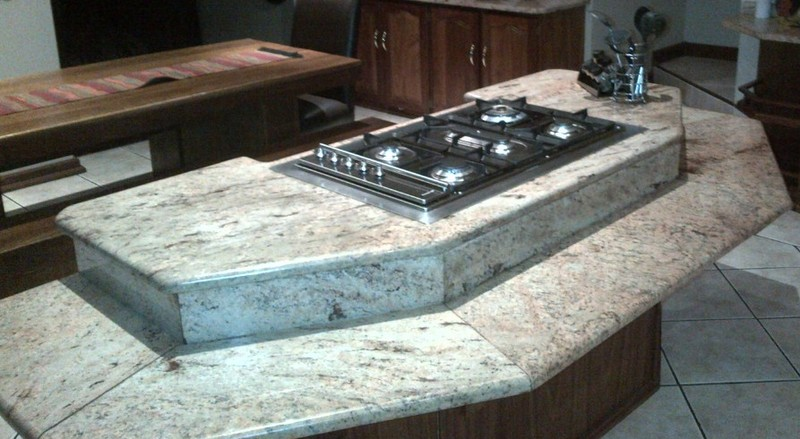 counter tops at different heights