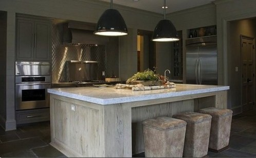 beautiful build-in kitchen island