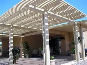 This Patio Covering Is Completely Different From The Previous Two Again.  Modern, With Lovely Height To Add To The Beauty Of The Home.