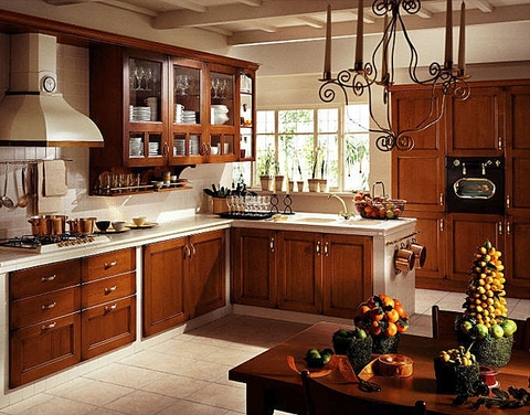 Rustic Kitchen With Rich Colours, Earthy Textures And Natural Finishes Like  Granite, And Copper